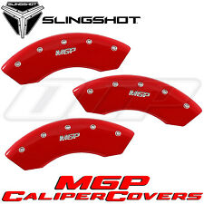 NEW 2016 POLARIS SLINGSHOT RED BRAKE CALIPER COVERS BY MGP (SET OF 3)