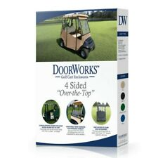 NEW Doorworks Golf Over The Top Cart Cover Portable 4-Sided - Black