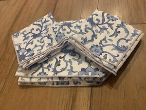 Beautiful Vintage Blue & White Table Linen Set French ????
