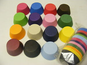 ULTIMATE MIXED PACK of high quality paper MUFFIN / CUPCAKE CASES -15 colours