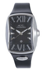 Chronotech Men's CT.7906M/02 Shuttle Luminous Black Leather Date Watch