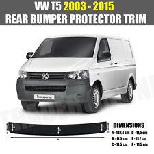 VW T5 TRANSPORTER protezione PER PARAURTI POSTERIORE NERO VOLKSWAGEN CARAVELLE STRISCIA Guard