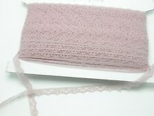 """Lace 1//2/"""" Floral Pale Pink 100 Yards Closeout  Free US Ship"""