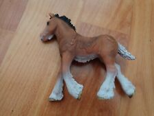 """5"""" SCHLEICH RETIRED 2012 BROWN SHIRE FOAL HORSE TOY FIGURE 13736"""