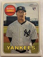 2018 Topps Heritage #603 Gleyber Torres rookie RC card New York Yankees