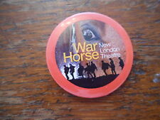 Pin Badge War Horse Military Animals New London Theatre 4cm Diameter