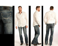 ROCK & ROLL COWBOY Men's Regular Pistol Fit and Straight Leg Jeans M1P4938 NWT