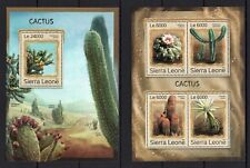 SIERRA LEONE 2016 - CACTUS CACTI ECHINOPSIS PLANTS FLORA STAMPS M/S + S/S MNH**