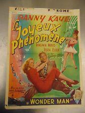 Danny Kaye Virgina Mayo Vera Ellen Wonder Man Foreign Poster #L9505