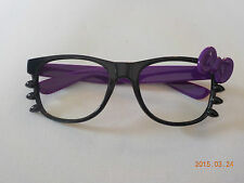 Kitty bow glasses without lenses black purple cosplay kawaii festival
