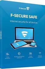 F-Secure SAFE 2019 (3PCs/1Year) Antivirus & Internet Security Genuine Licence