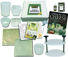 CHEESE MAKING KIT with MOULDS, BOOK and CHEESE PRESS - for Soft & Hard Cheese
