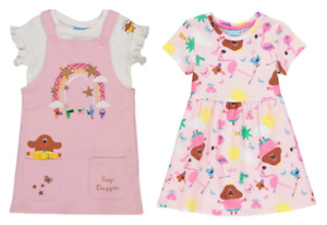 HEY DUGGEE PINK PINAFORE & WHITE T SHIRT OR HEY DUGGEE TROPICAL DRESS  - New