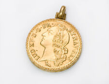 Antique 18K Yellow Gold Coin Pendant Locket Fob