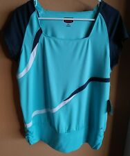 NWT BOLLE Women's Athletic Tennis Workout Stretch Sport Top - XL -Cap sleeves