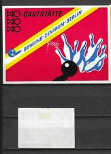 MATCHBOX LABELS-GERMANY. Bowling Center in Berlin, packet size label, Riesa