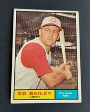 ORIGINAL1961 TOPPS CINCINNATI REDS BASEBALL CARD #418 ED BAILEY EXCELLENT