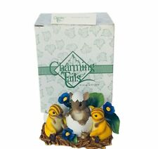 Charming Tails figurine fitz floyd Box mouse anthropomorphic One of Kind Birds