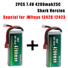 2PCS&7.4V 2s 4200mah 20C Max 40C Lipo battery For wltoys 12428 12423 car parts