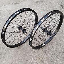 "REVENGE 20"" OEM CASSETTE 9T WHEEL SET RHD DOUBLE WALL RIMS BLACK BMX BIKE WHEELS"