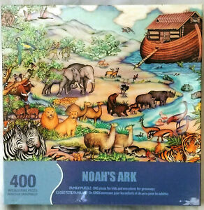 New Sealed Springbok 400 piece NOAH's ARK family fun learning puzzle Homeschool