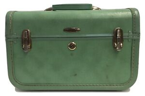 Vintage Taperlite Train Case Luggage Light Green with Mirror - NO Tray or Key
