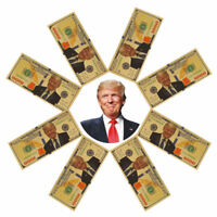 US President Donald Trump Colorized $1000 Dollar Bill Gold Foil Banknote TO