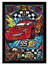 Tenyo Jigsaw Puzzle Stained Glass Art Disney Cars Lightning McQueen 266pcs