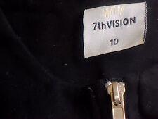 7TH VISION ZipFront85%CottonBlendSleevelessPonteSize10