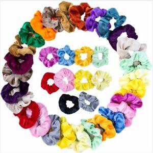 10 20 40 Pcs Hair Scrunchies Velvet Scrunchy Bobbles Elastic Hair Bands Holder