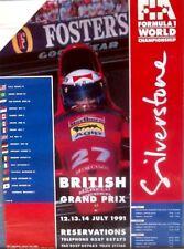 Formula1 Uk 1991. SILVERSTONE ,poster