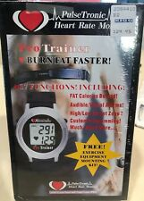 PulseTronic Heart Rate Monitor 17 Function Watch LCD Waterproof New Old Stock
