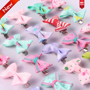10Pcs Kids Baby Girl's Bow Ribbon Hair Clips Bow Toddler Hairpins Accessories