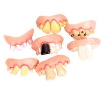 5x Scherzzähne Horror Gebiss Zähne Kostüm Vampir für Halloween Partei