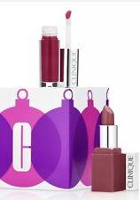 CLINIQUE Pop lip Colour + primer and Clinique Splash lip gloss 2 pcs Set