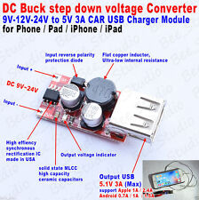 6V-36V 12V 24V to 5V/3A DC-DC Buck Voltage Converter Step-down Volt Transformer