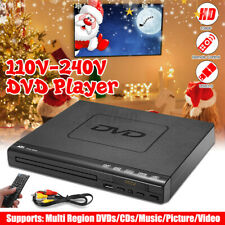 15W LCD DVD Player Compact 6 Regions Video MP4 MP3 CD USB 3.0 w/ Remote