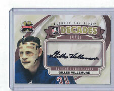 2011-12 ITG BETWEEN THE PIPES DECADES 70'S GILLES VILLEMURE AUTO #A-GV
