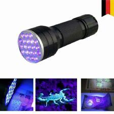 UV Taschenlampe 21 LEDs Handlampe Schwarzlicht Flashlight Detektor Ultraviolett