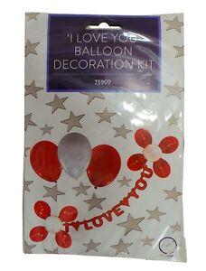 'I Love You' Balloon & Banner Decoration Kit