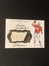 Vinny Testaverde 17 Flawless Collegiate Game Worn Jersey On Card Autograph 2/25