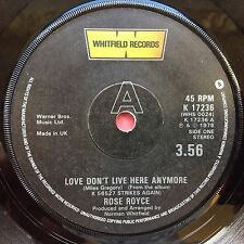Rose Royce - Love Don't Live Here Anymore / Do It Do It - Whitfield K17236 Ex