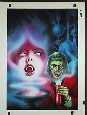 Originalzeichnung VAMPIR Horror Roman 280 Titelbild Lutohin Der Freak von Soho