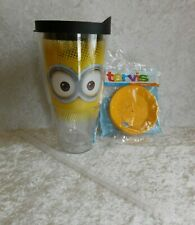 TERVIS TUMBLER MINIONS 24 OZ CUP WITH EXTRA LID & STRAW HOT COLD NEW UNIVERSAL