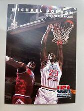 1992 Skybox # 43 Michael Jordan - USA Basketball - NBA All Star Record