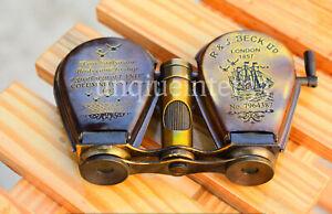 Antique Brass Monocular Maritime Vintage Gift Nautical Binocular Telescope