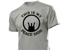 """Sniper Scharfschützen T-Shirt """"This is my Peace Sign"""" Jagd Outdoor Hunting S-XXL"""