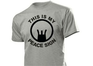 "Sniper Scharfschützen T-Shirt ""This is my Peace Sign"" Jagd Outdoor Hunting S-XXL"