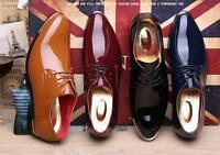 Men's PU Leather British Dress Formal Leisure Business elegent Pointed toe Shoe