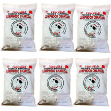 30kg Hardwood Lumpwood Charcoal for BBQ Barbecue and Grills (Six 5kg bags)